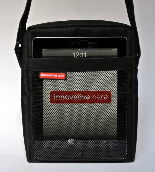 Tablet Bag with iPad in front mesh pocket, for quick access