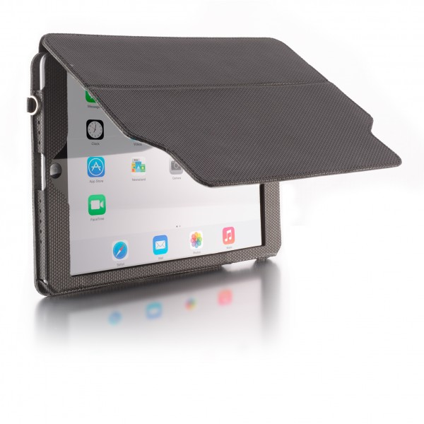Rigid folding front cover screen protector secured by strong magnets