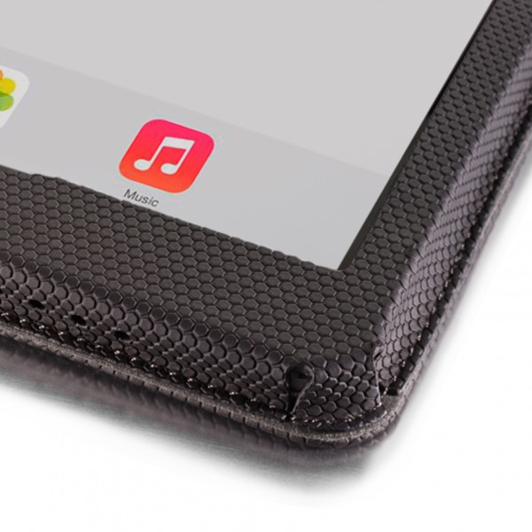 Added material on iPad case provides corner protection
