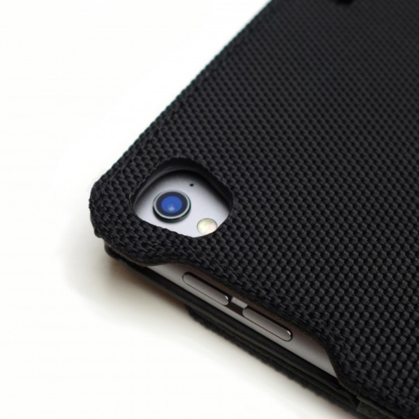 BACKSIDE CAMERA OPENING AND ERGONOMIC BUTTON CONTOUR