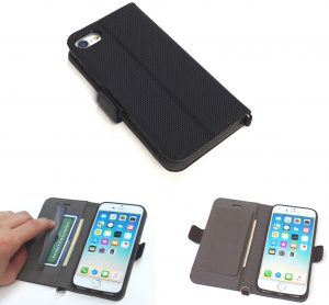 Wallet Case for iPhone 8, 7, 6s and 6 -Holds Credit Cards, I.D. -Model P1
